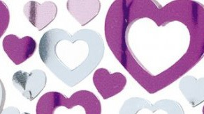 Heart Shaped Metallic Confetti
