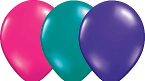 Jewel Colour Latex Balloons
