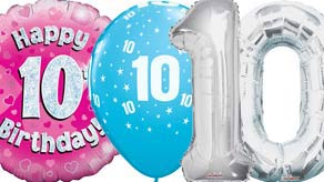 Age 10 Balloons