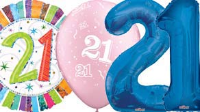 Age 21 Balloons