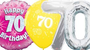 Age 70 Balloons