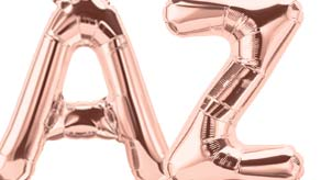 "16"" Rose Gold Letters Balloons"