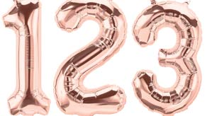 "16"" Rose Gold Number Balloons"