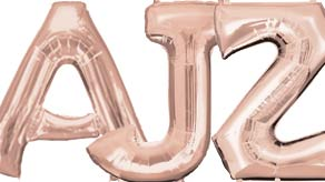 Rose Gold Letter Balloons 34""