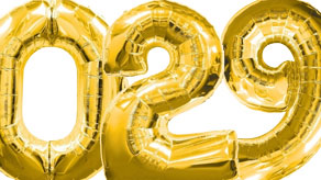 Gold Numbers Balloons