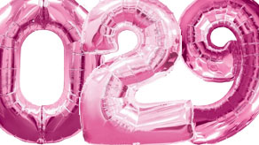 Pink Numbers Balloons