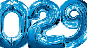 Blue Numbers Balloons