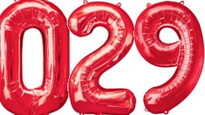 Red Numbers Balloons