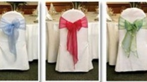 Organza Sashes And Chair Bows