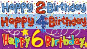 Age 1-12 Birthday Banners