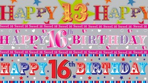 Age 13-17 Birthday Banners
