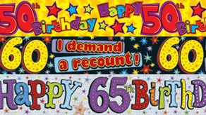 Age 50-65 Banners and Bunting