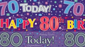 Age 70-80 Birthday Banners