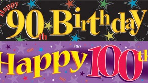 Age 90-100 Birthday Banners