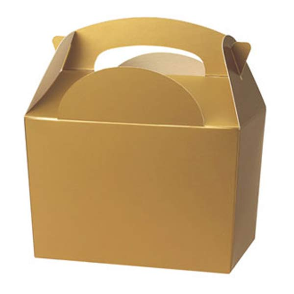 Gold Party Box With Handle