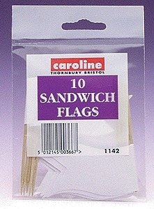 10 Sandwich Flags x 20 Packets