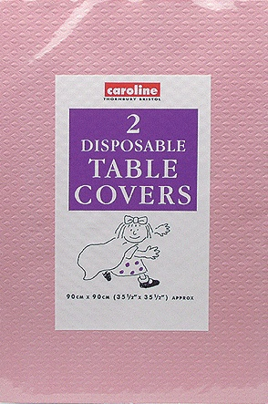 Pink Paper Tablecover (10 Pack Of 2)