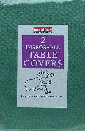 Dark Green Paper Tablecover (10 Pack Of 2)
