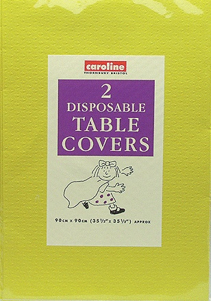 Dark Yellow Tablecover (10 Pack Of 2)