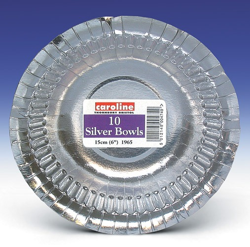 Silver Paper Bowls x12 Packs Of 10