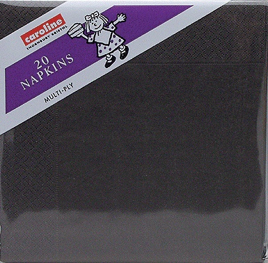 Black Napkins 6 x 20