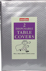 Silver Paper Table Cover (10 pack x 2)