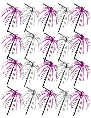 Pink And Silver Foil Deco Straws x20