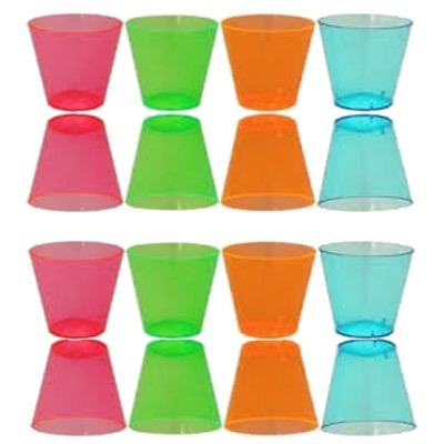 Neon Assorted Shot Glasses x40