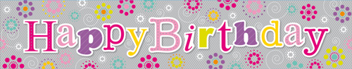 Birthday Girl Extra Wide Banner
