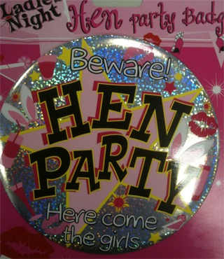 Hen Party Large Badge