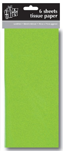 Green Tissue Paper x6 Sheets