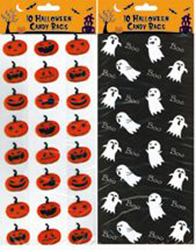 Pumpkin And Ghost Party Bags x20