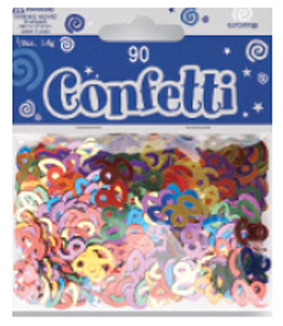 Age 90 Metallic Assorted Confetti