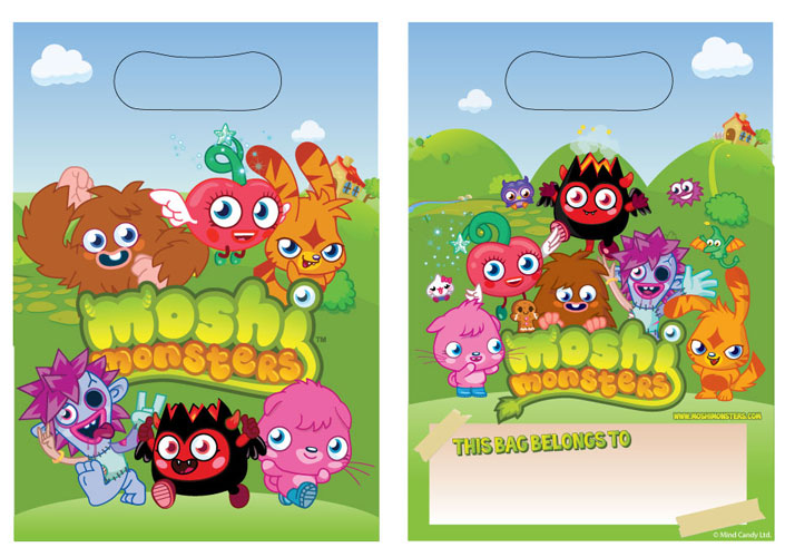 Moshi Monster Party Bags 6pk