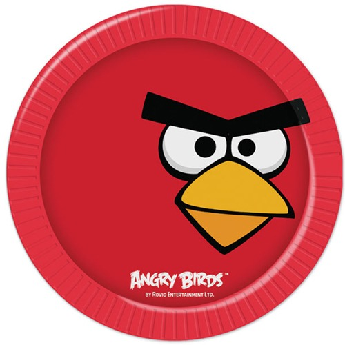 Angry Birds Paper Plates x8