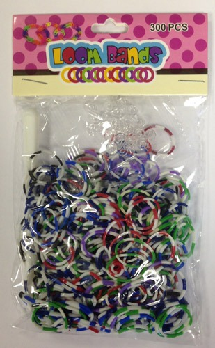 Polka Dot Loom Bands x 300