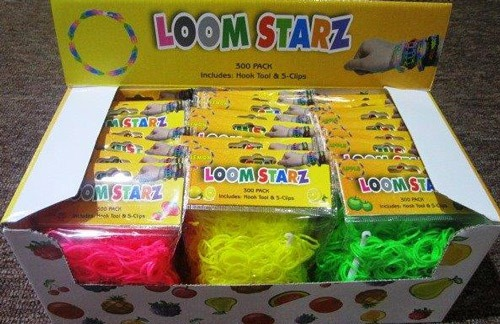 Neon Scented Loom Bands x24