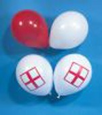 "9"" St Georges Cross Latex Balloons 100pk"