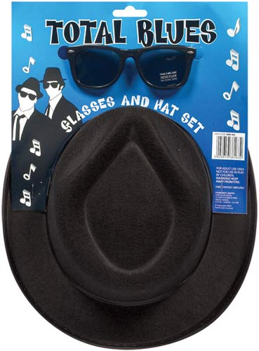 Total Blues Hat And Glasses Set