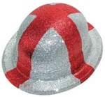 England St George Glitter Bowler Hat