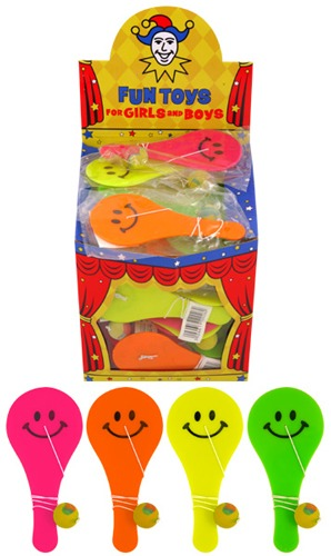 Smile Paddle Bat and Ball x 96