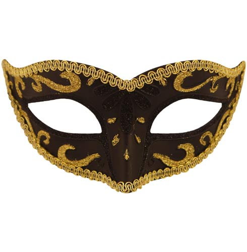Black With Gold Trim Eye Mask