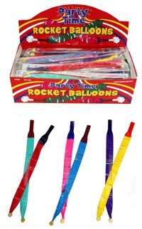 2pc Rocket Balloons x72