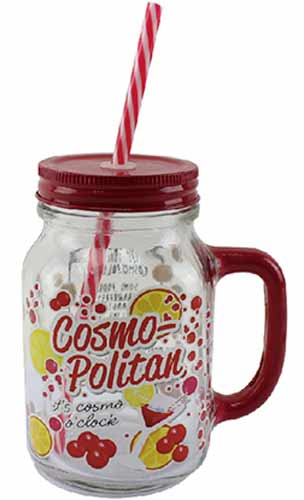 Cosmopolitan Drinking Jar Glass