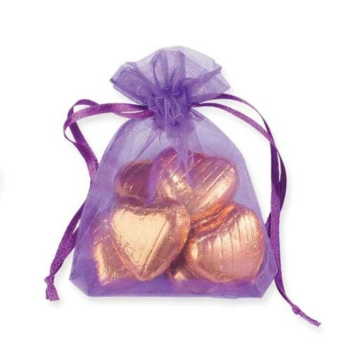 Purple Organza Bags x10