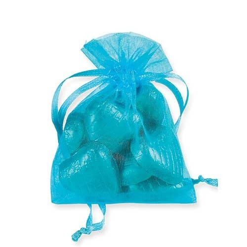 Turquoise Organza Bags x10