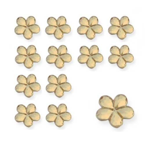 Gold Flower Shaped Diamantes