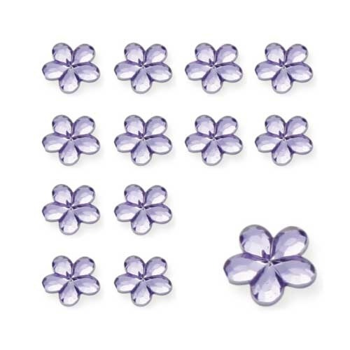 Lilac Flower Shaped Diamantes