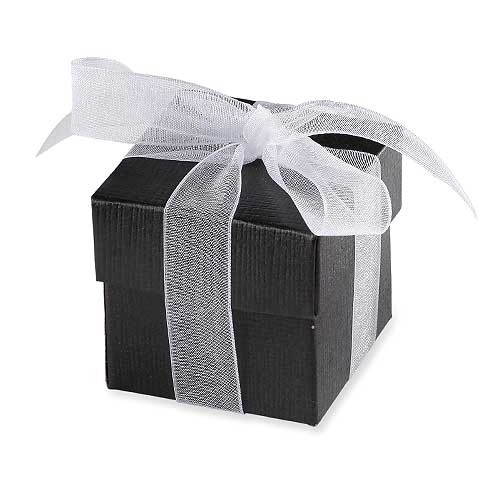 Black Favour Box With Lid x10