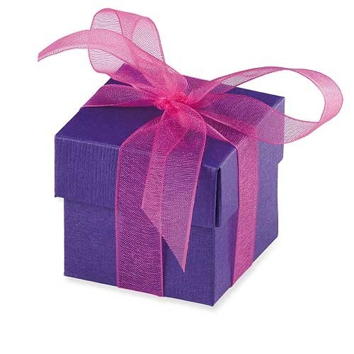 Purple Favour Box With Lid x10